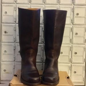 Frye Campus boots tall blazer brown leather 6.5 7